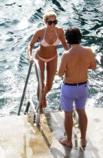 Sylvie Meis In bikini during honeymoon in Capri