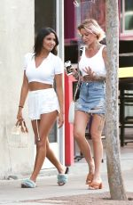 Tina Louise Enjoy an evening walk with her friend CJ Franco on their way to diner at Pura Vida in West Hollywood