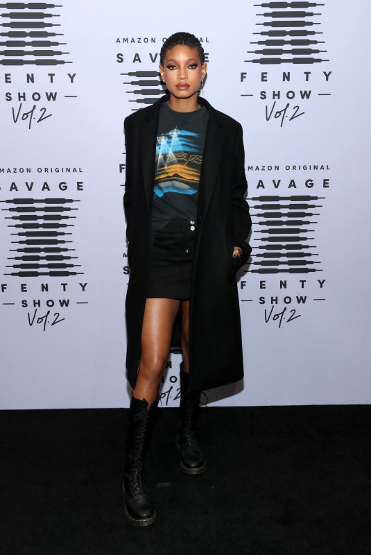 Willow Smith On the red carpet for the Savage X Fenty Vol. 2 show