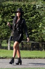 Yazmin Oukhellou At The Only Way is Essex TV Show Filming, Chlochella Festival, Essex