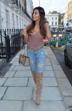 Yazmin Oukhellou Out and about in Chelsea
