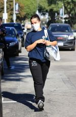 Addison Rae and Bryce Hall are seen leaving the gym together