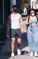 Addison Rae & Bryce Hall Spends Thanksgiving At The Gym in West Hollywood