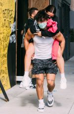 Addison Rae Gets Piggy Back Ride From Bryce Hall After Workout at Dogpound