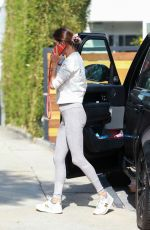 Alessandra Ambrosio Arrives for a pilates session in Los Angeles
