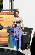 Alessandra Ambrosio Exiting a Pilates studio with a friend in West Hollywood