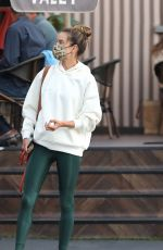 Alessandra Ambrosio Has lunch with her kids in Santa Monica