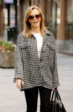 Amanda Holden Pictured leaving the Global Studios after the Heart Radio Breakfast show in FS Collection top in London