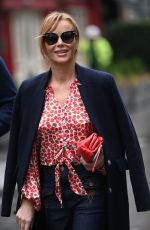 Amanda Holden Seen leaving Global Radio, Leicester Square in London