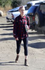 Amber Heard Enjoys a hike in Los Angeles