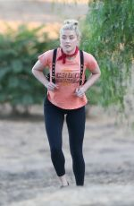 Amber Heard On a hike in Los Angeles