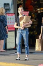 Amber Heard Shopping for groceries in Los Angeles