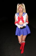 Anastasia Karanikolaou Seen heading to a Halloween party in Los Angeles