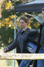 Anna Paquin Filming