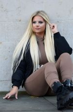 Apollonia Lllewelyn Shooting pictures for brands around Manchester City Centre in London