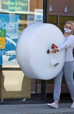 Ariel Winter Buying bubble wrap out in Los Angeles