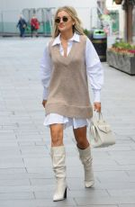 Ashley Roberts Outside the Global Studios Heart FM in London