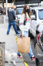 Bella Hadid and Justine Skye shop at a boutique in Brooklyn