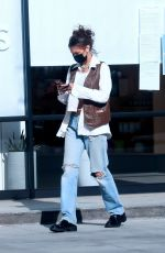 Bella Hadid Goes shopping at Sweet Flower Cannabis store with a friend in Studio City