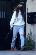 Bella Hadid Spotted leaving a studio with her assistant after a meeting in Los Angeles