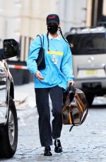 Bella Hadid Steps out of her apartment in New York City