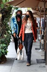 Bella Hadid Takes her dad out for a birthday lunch at Il Pastaio in Beverly Hills