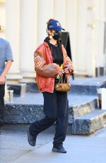 Bella Hadid Wearing a see-through crop top while stepping out in MYC