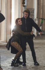 Bella Thorne And Italian boyfriend singer Benjamin Mascolo put on a PDA while holidaying in Rome with a couple of friends