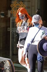 Bella Thorne Leaving her hotel in Rome