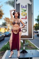 Blanca Blanco Gets ready for Halloween today in a full on Princess Leia costume