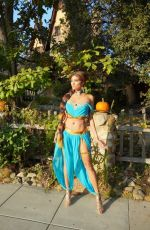 Blanca Blanco Goes as Princess Jasmine for Halloween