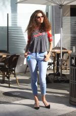 Blanca Blanco Strikes a pose during a lunch outing in Beverly Hills