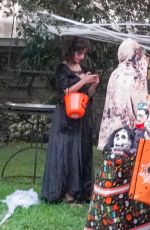 Camila Cabello Giving out candy on Halloween in Miami