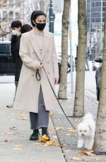 Camila Mendes Dresses stylish for a weekend walk with her dog