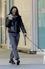 Camila Mendes Walking Truffle out in Vancouver