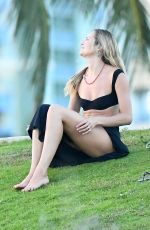Candice Swanepoel At a park with her sons in Miami