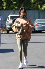 Chantel Jeffries At Yoga pants outside Dogpound in LA