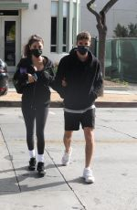 Chantel Jeffries & Chainsmoker Lucas Taggart are seen arriving to a workout