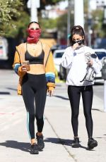 Chantel Jeffries Out for a workout with a friend at DogPound in Los Angeles