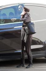 Cheryl Burke and Val Chmerkovskiy seen arriving to the dance studio