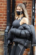 Chloe Sims Shows off her curves and her boxing skills at Boxgymfitness in Brentwood