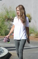Chrishell Stause Out walking her dog in Los Angeles