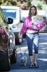 Chrishell Stause Steps out sporting a midriff bearing crop top in Los Angeles