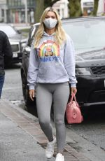 Christine McGuinness Gets in the early Christmas spirit as she is seen out and about in Wilmslow