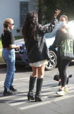 Cindy Kimberly, also known as Wolfie, has lunch with friends at Toast Cafe in West Hollywood