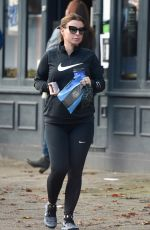 Coleen Rooney Seen grabbing her early morning brew from Cafe Nero in Alderley Edge in Cheshire