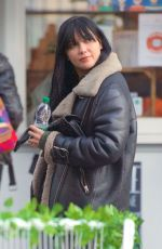 Daisy Lowe Pushes to the front of the queue at a coffee shop and gets a right telling off in London