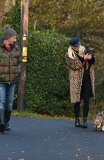 Denise Van Outen Takes her dogs Tilly and Remy for a walk in the Essex countryside