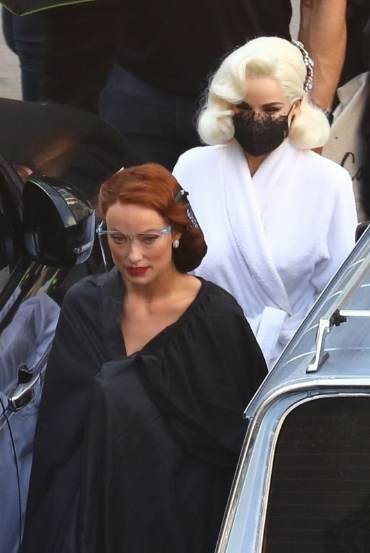 Dita Von Teese, Harry Styles & Olivia Wilde Pictured on the set of