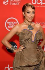 Doja Cat Attends the 48th Annual American Music Awards at Microsoft Theater in Los Angeles